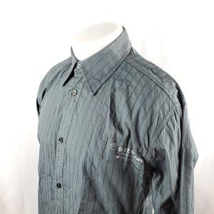 G-Star Raw Mens Button Front Shirt Sz XL L/S Gray